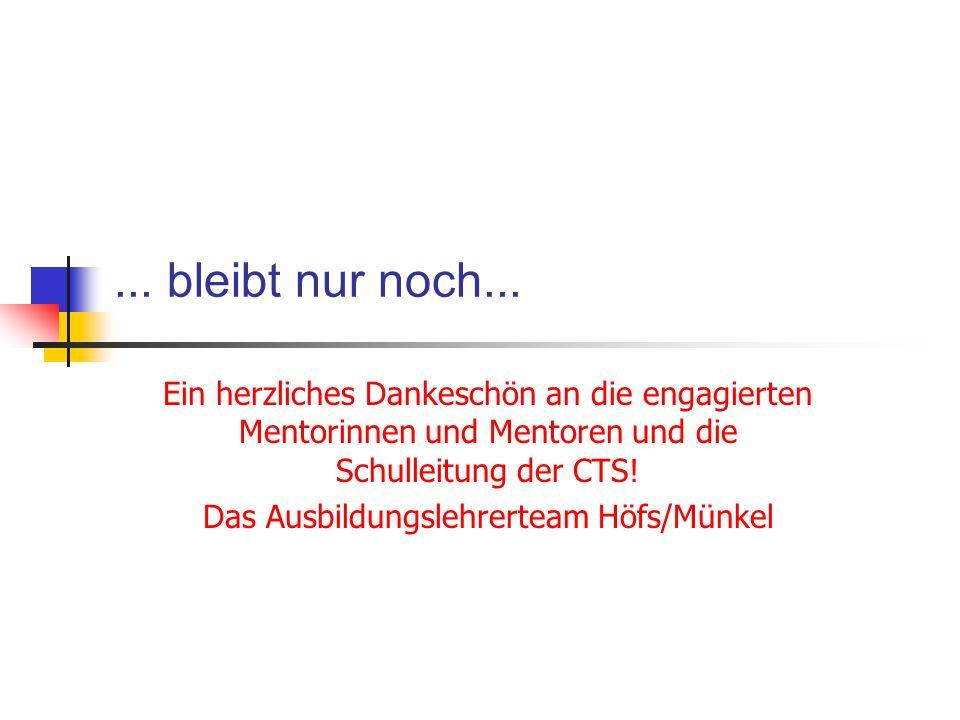 Das Ausbildungslehrerteam Höfs/Münkel