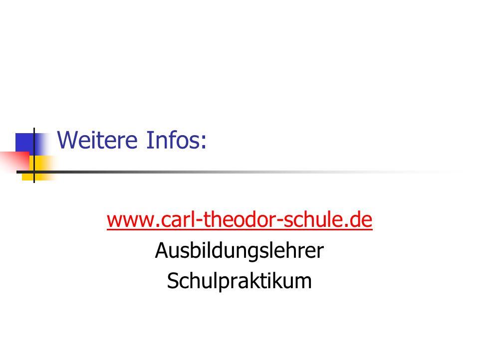 www.carl-theodor-schule.de Ausbildungslehrer Schulpraktikum