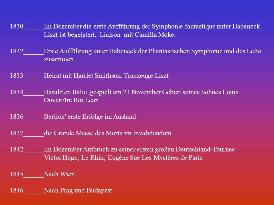 1830______Im Dezember die erste Aufführung der Symphonie fantastique unter Habaneck