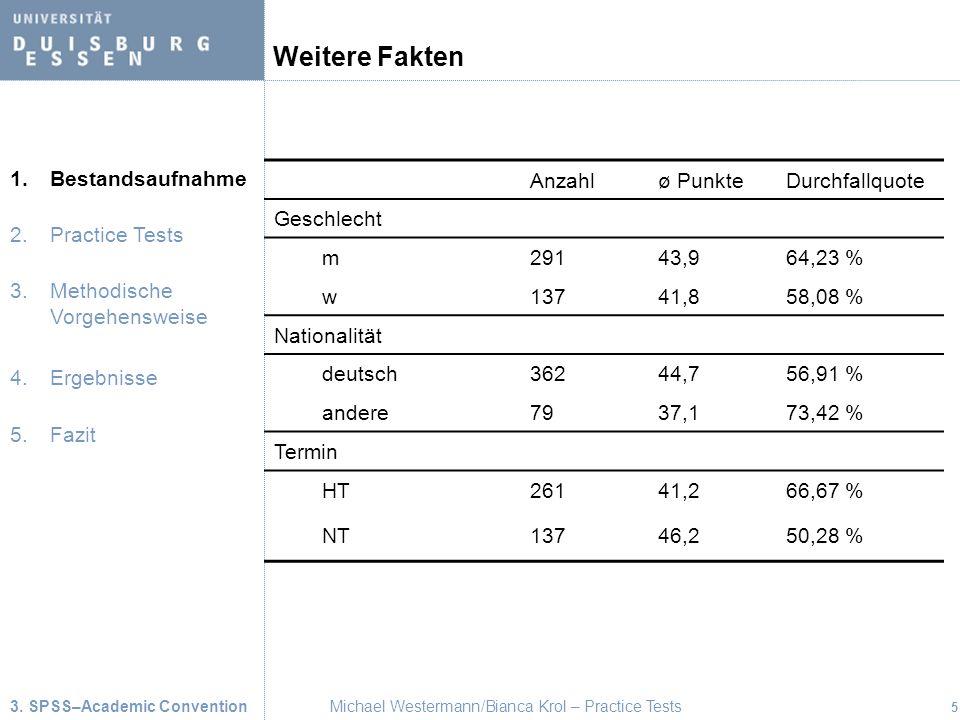Weitere Fakten Weitere Fakten haben wir in einer Tabelle zusammengefasst.