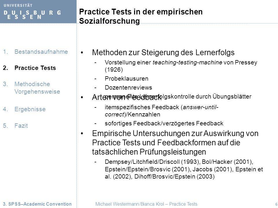 Practice Tests in der empirischen Sozialforschung