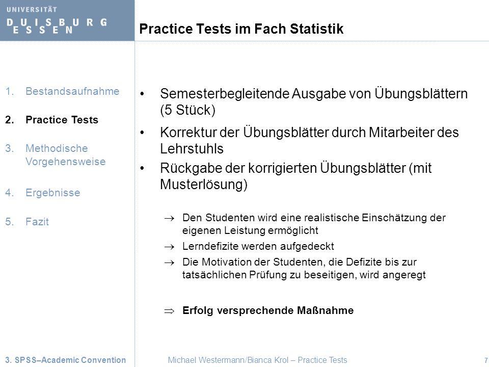 Practice Tests im Fach Statistik