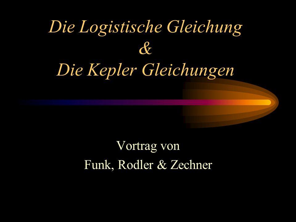 Die Logistische Gleichung & Die Kepler Gleichungen