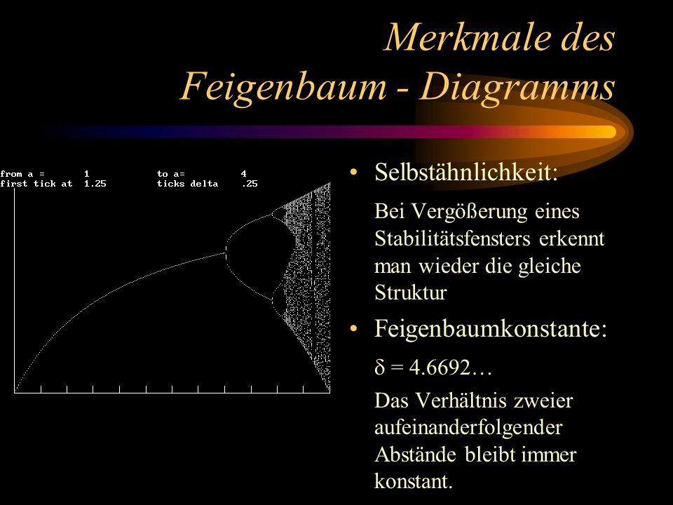 Merkmale des Feigenbaum - Diagramms