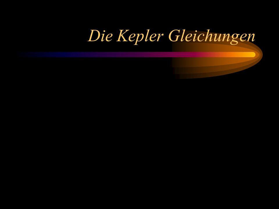 Die Kepler Gleichungen