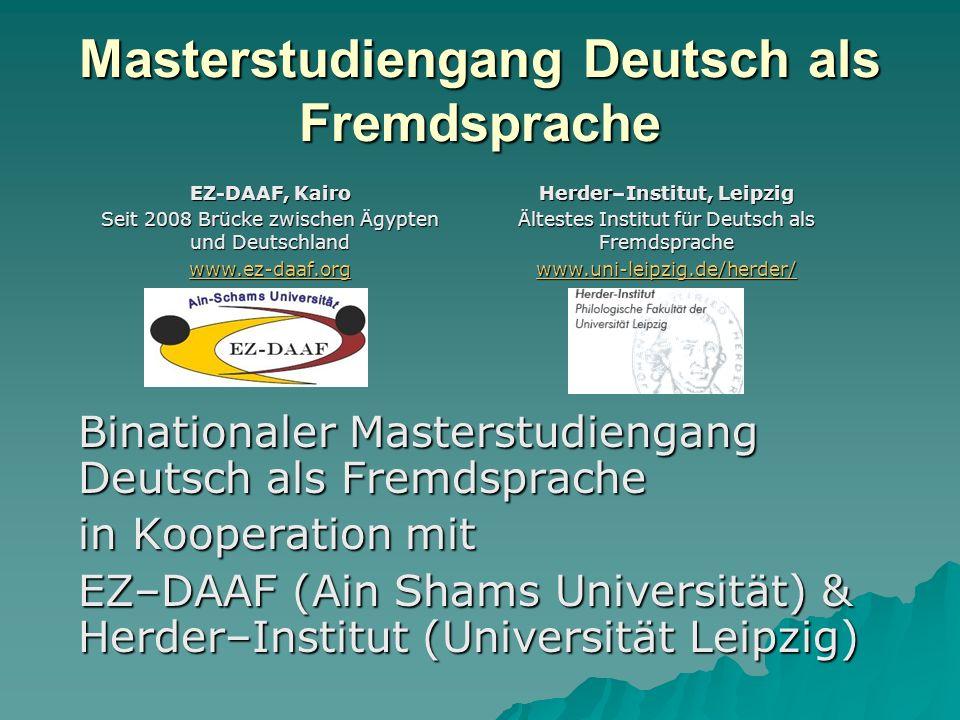 Masterstudiengang Deutsch als Fremdsprache