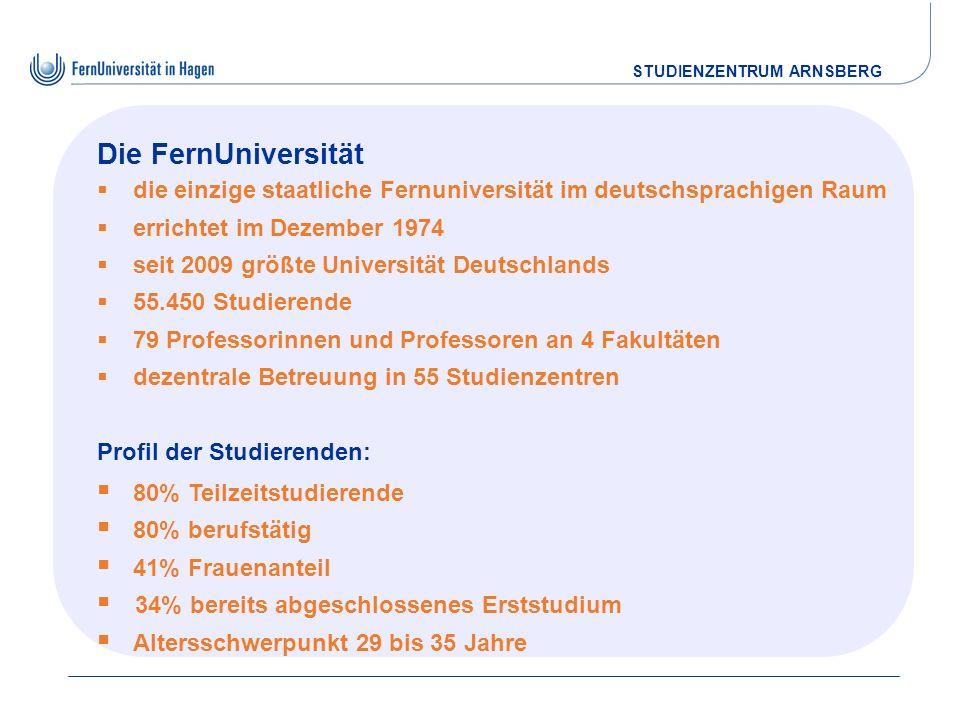 Die FernUniversitätdie einzige staatliche Fernuniversität im deutschsprachigen Raum. errichtet im Dezember 1974.