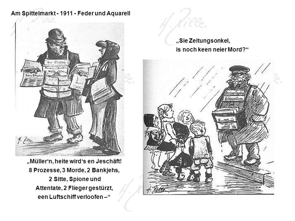 Am Spittelmarkt - 1911 - Feder und Aquarell
