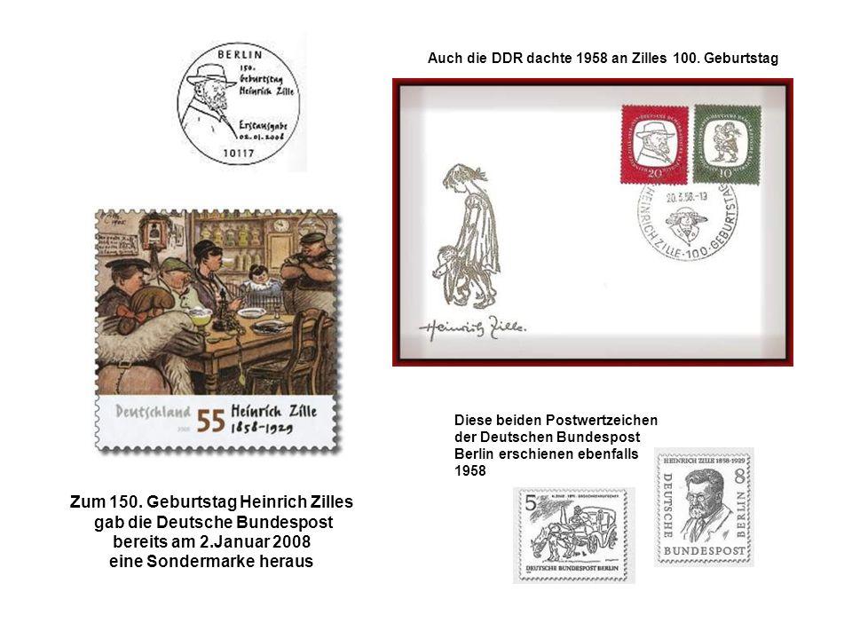 Zum 150. Geburtstag Heinrich Zilles gab die Deutsche Bundespost
