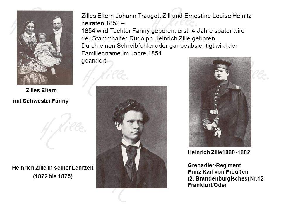 Heinrich Zille in seiner Lehrzeit