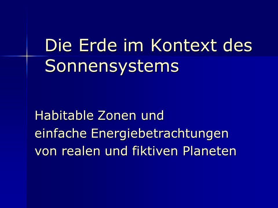 Die Erde im Kontext des Sonnensystems