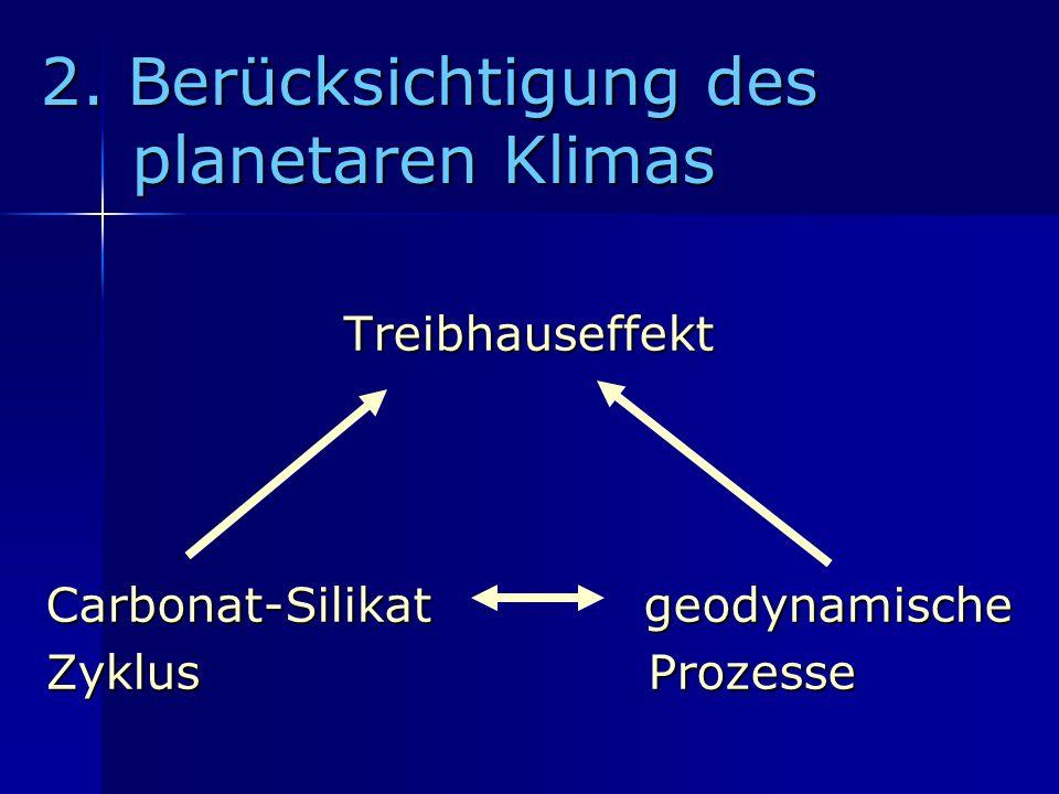 2. Berücksichtigung des planetaren Klimas