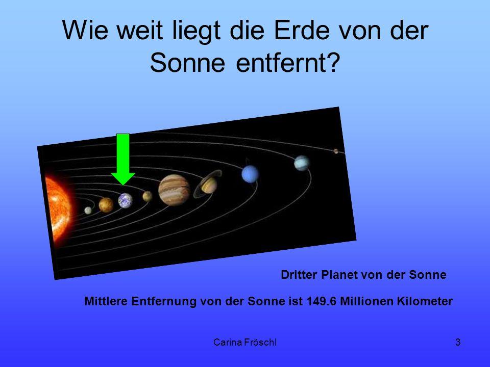 Wie weit liegt die Erde von der Sonne entfernt