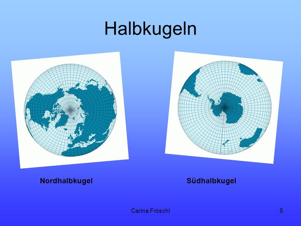 Halbkugeln Nordhalbkugel Südhalbkugel Carina Fröschl