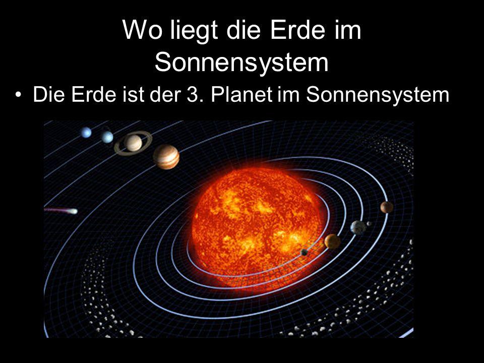 Wo liegt die Erde im Sonnensystem