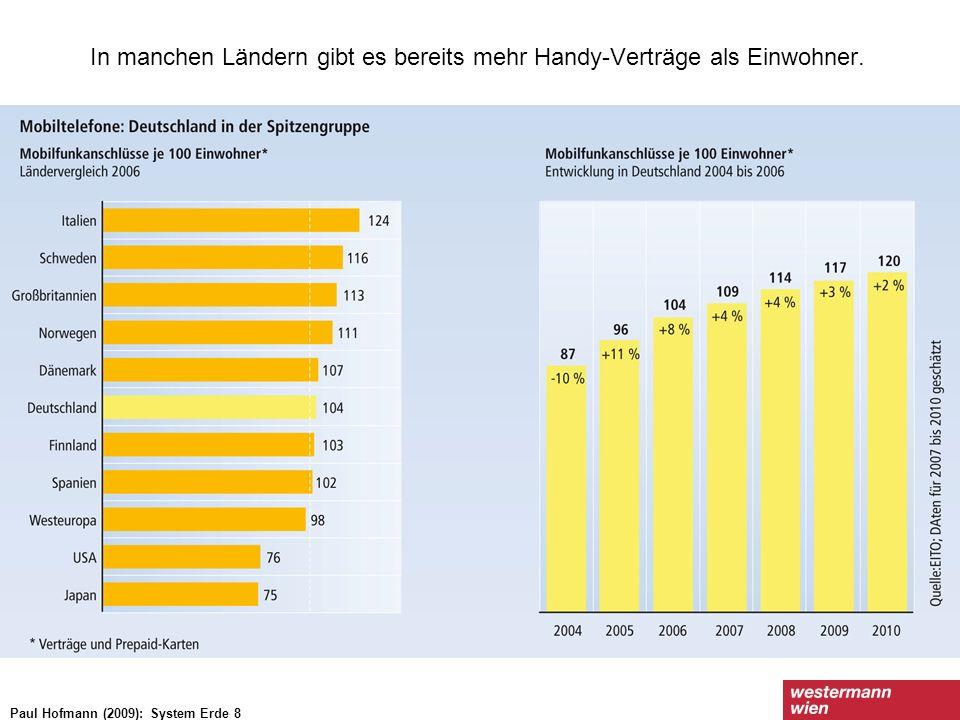 In manchen Ländern gibt es bereits mehr Handy-Verträge als Einwohner.