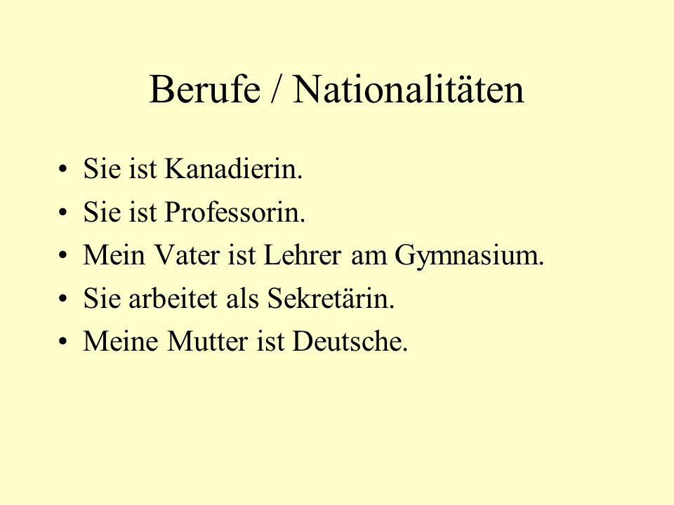 Berufe / Nationalitäten