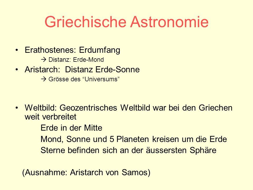 Griechische Astronomie