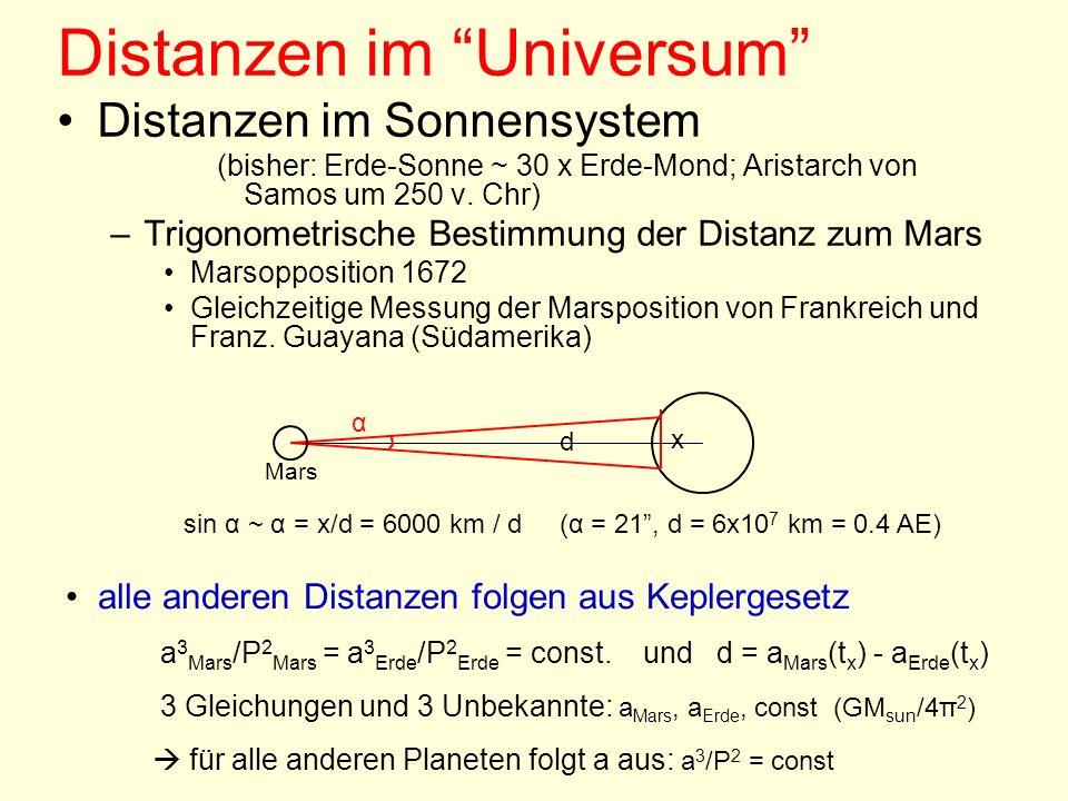 Distanzen im Universum