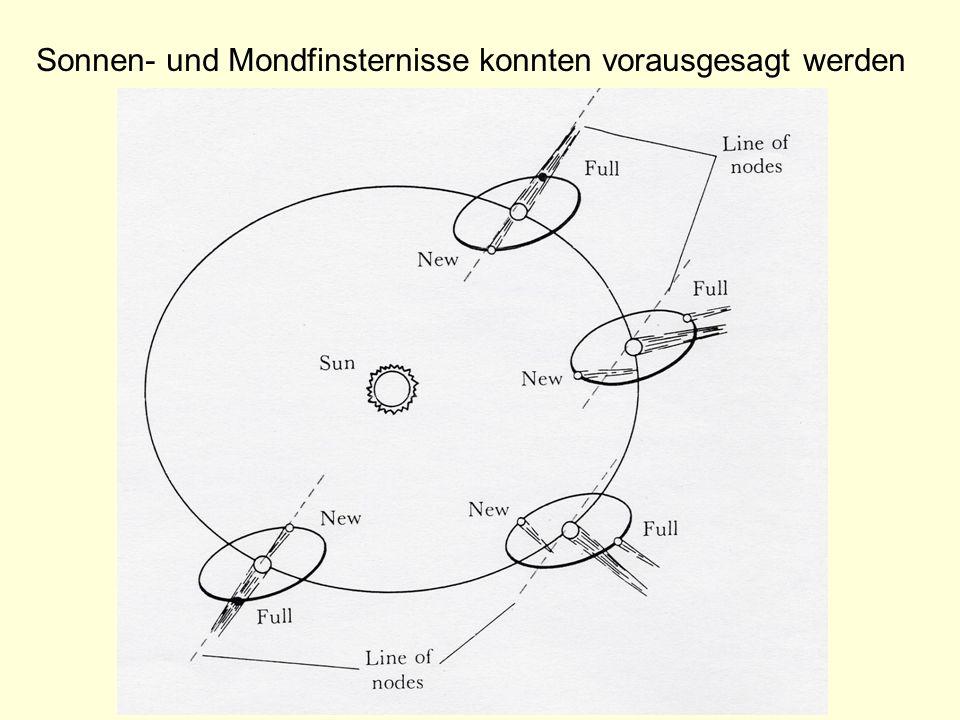 Sonnen- und Mondfinsternisse konnten vorausgesagt werden