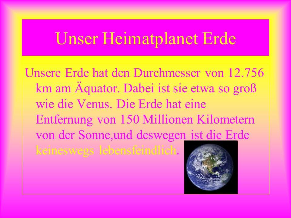 Unser Heimatplanet Erde