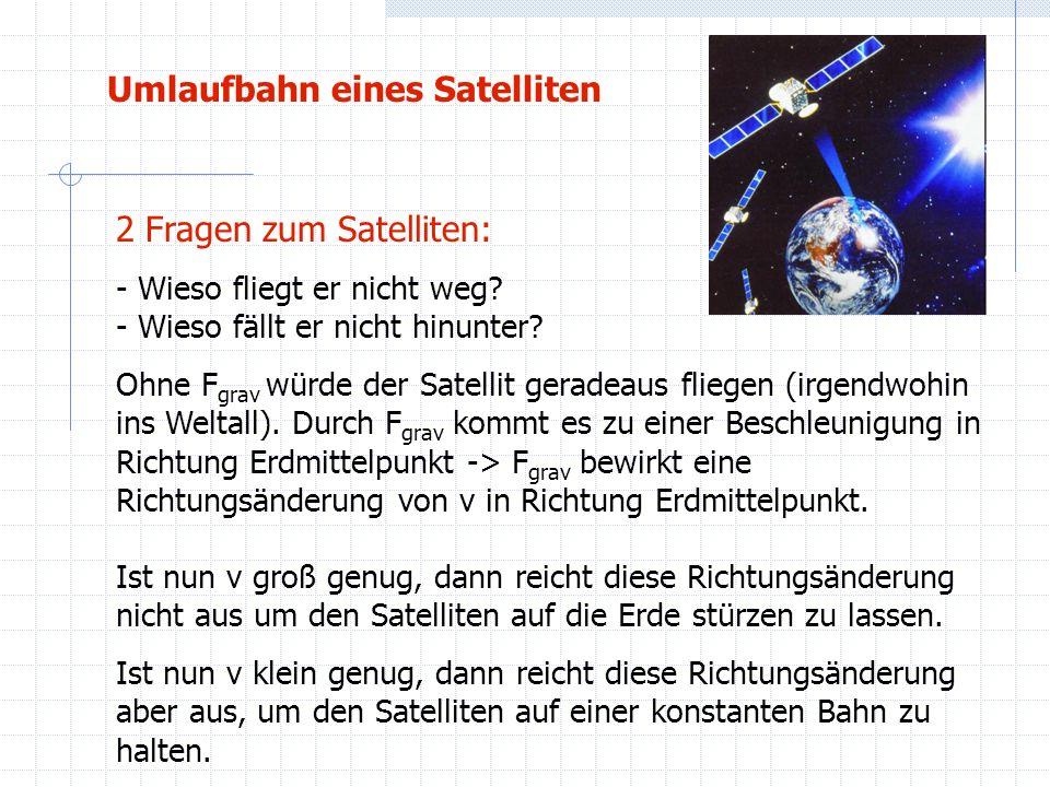 Umlaufbahn eines Satelliten