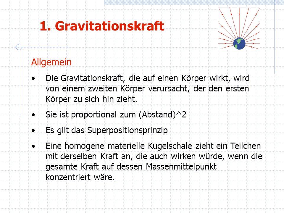 1. Gravitationskraft Allgemein