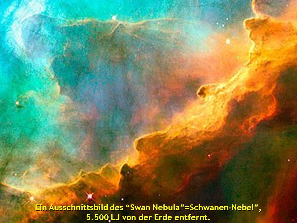 Ein Ausschnittsbild des Swan Nebula =Schwanen-Nebel , 5