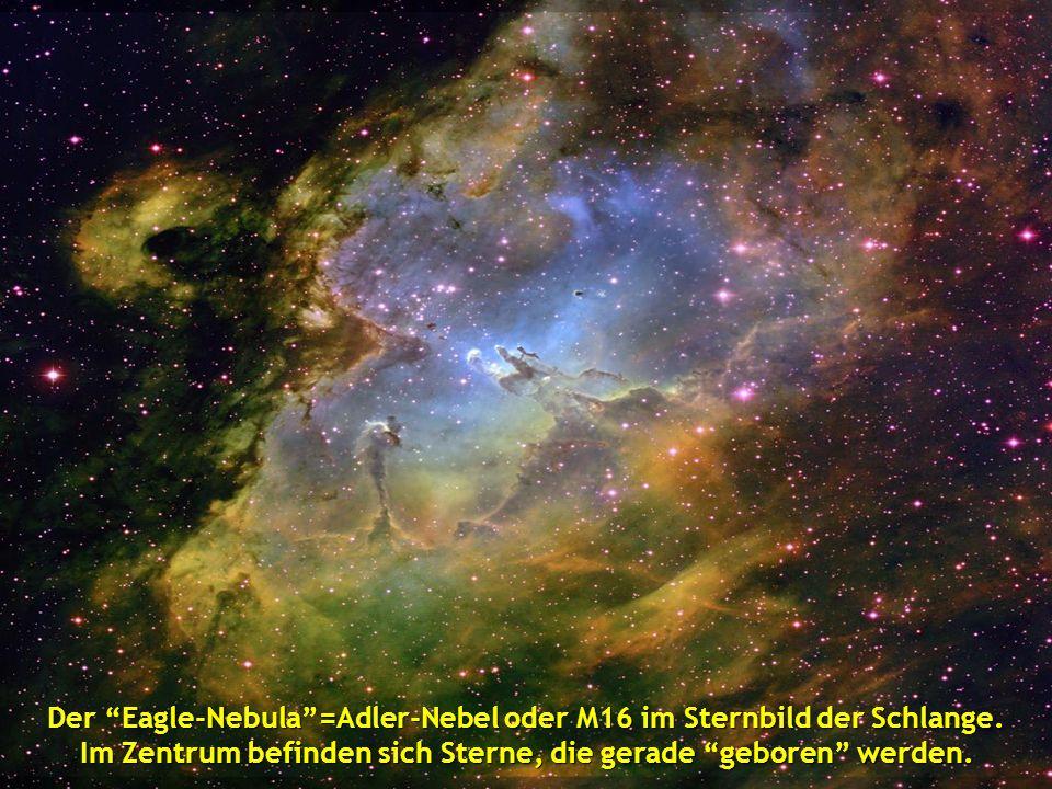 Der Eagle-Nebula =Adler-Nebel oder M16 im Sternbild der Schlange.