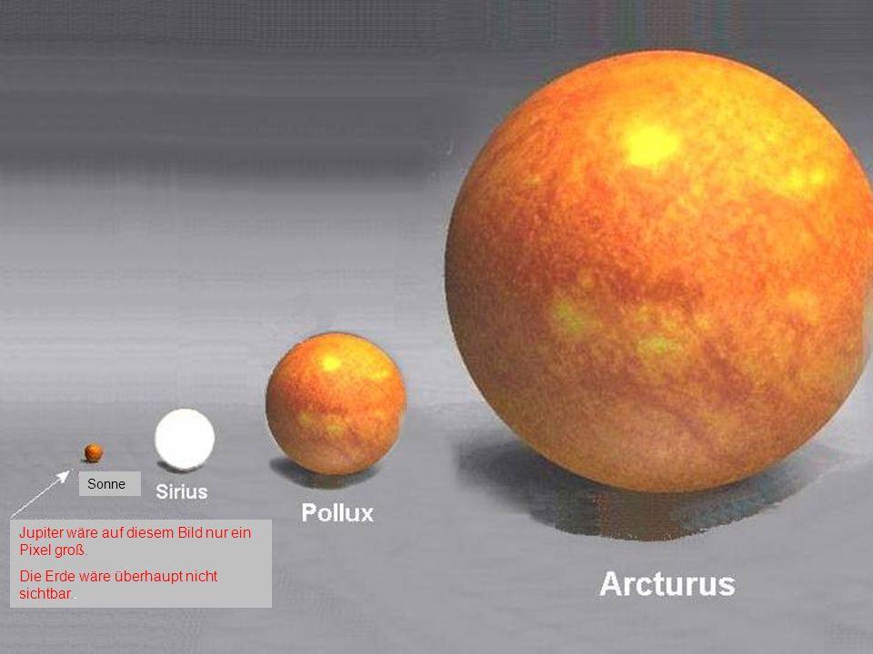 Jupiter wäre auf diesem Bild nur ein Pixel groß.