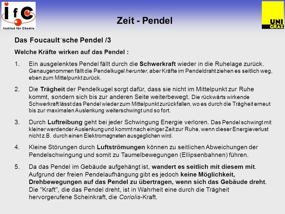 Zeit - Pendel Das Foucault´sche Pendel /3