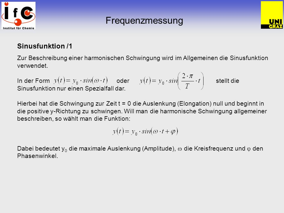 Frequenzmessung Sinusfunktion /1