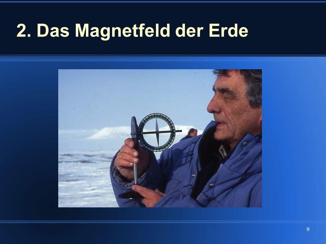 2. Das Magnetfeld der Erde