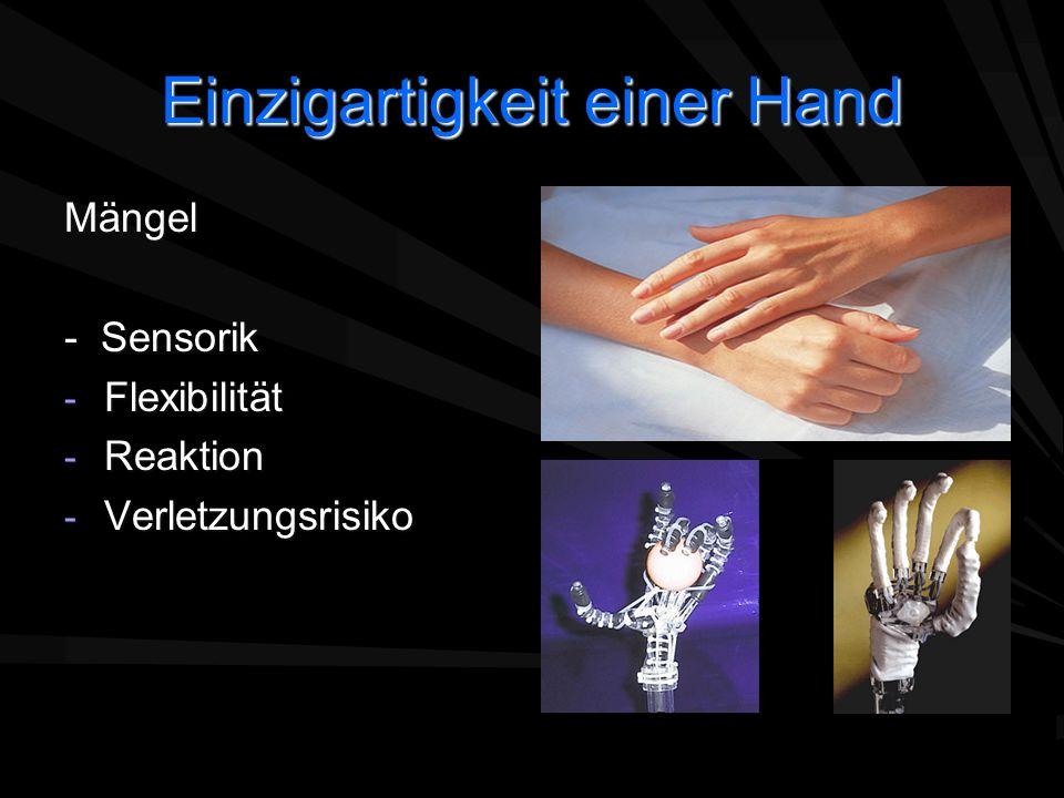 Einzigartigkeit einer Hand