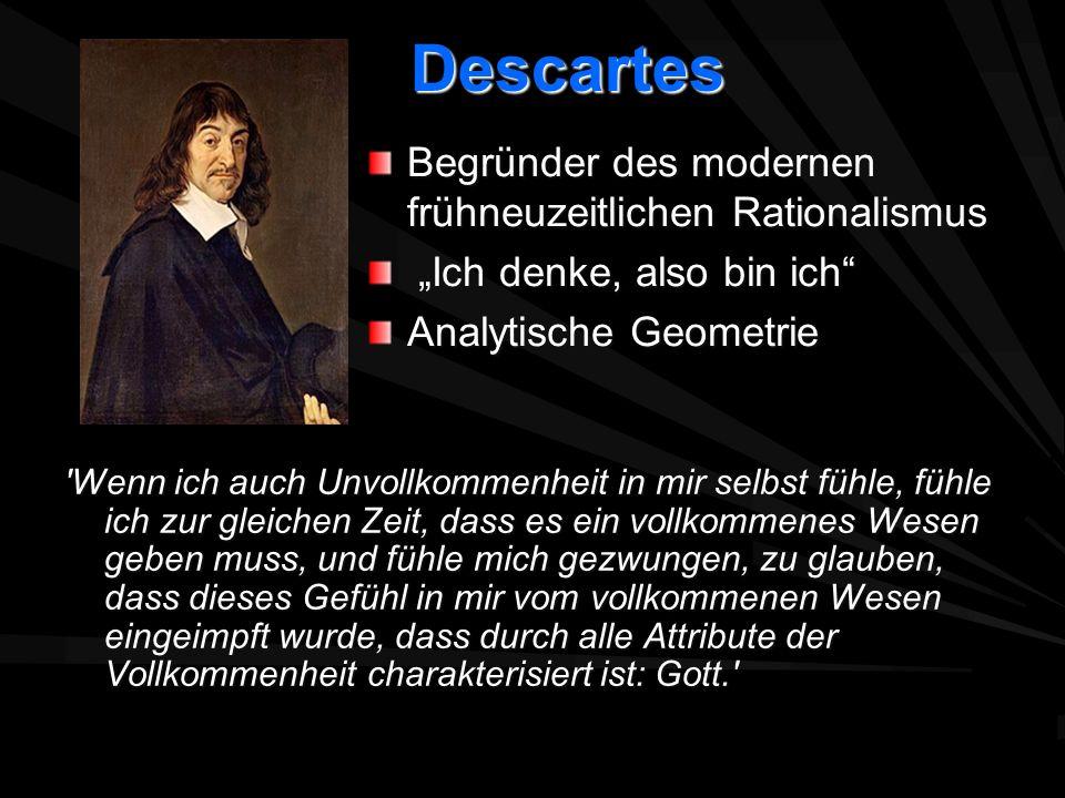 Descartes Begründer des modernen frühneuzeitlichen Rationalismus