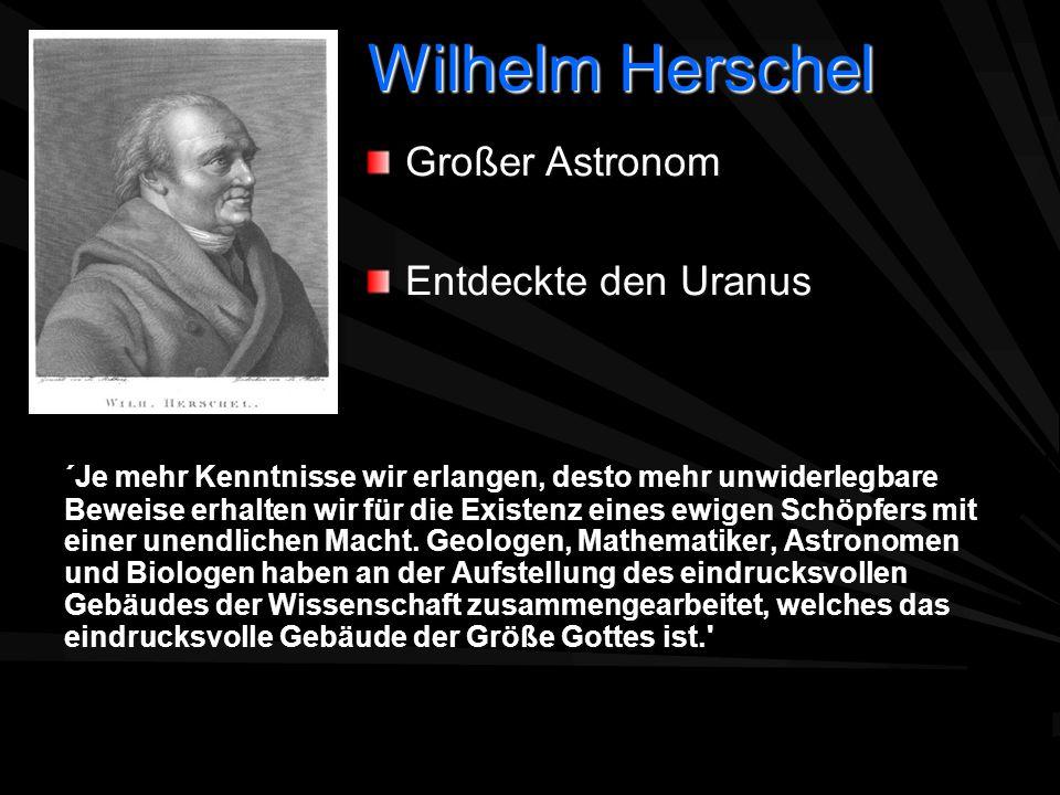 Wilhelm Herschel Großer Astronom Entdeckte den Uranus
