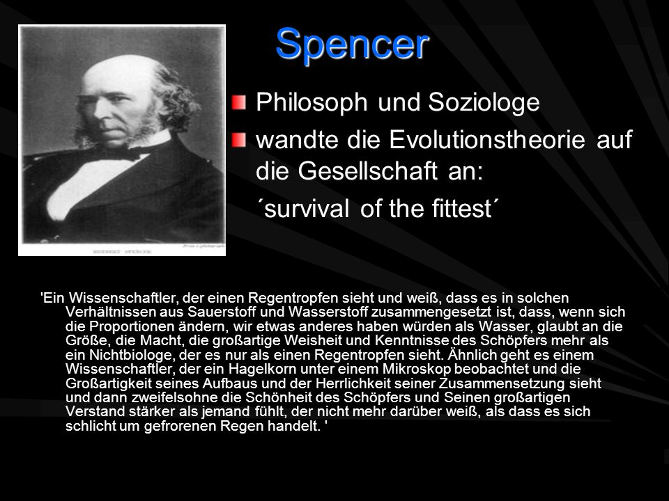 Spencer Philosoph und Soziologe