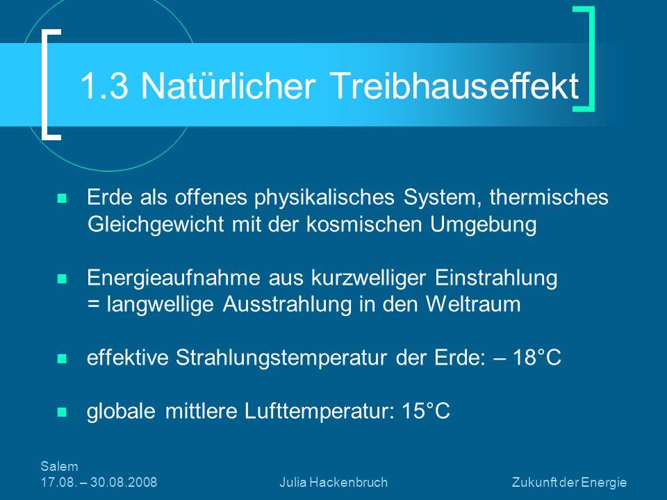 1.3 Natürlicher Treibhauseffekt
