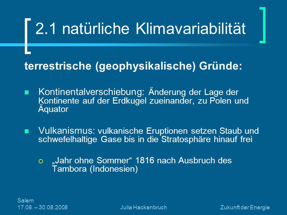 2.1 natürliche Klimavariabilität