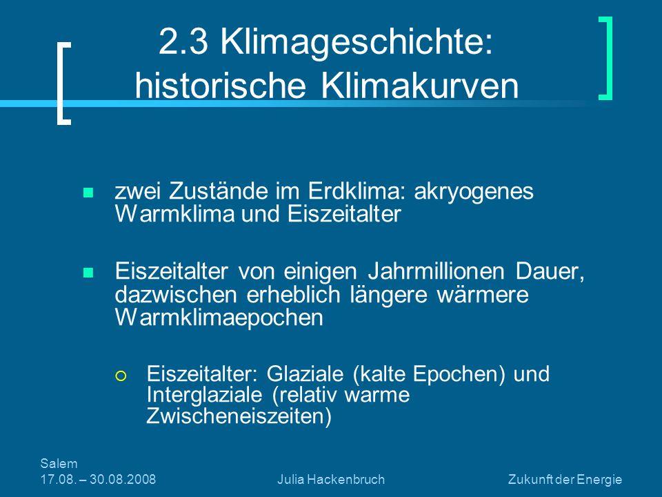 2.3 Klimageschichte: historische Klimakurven