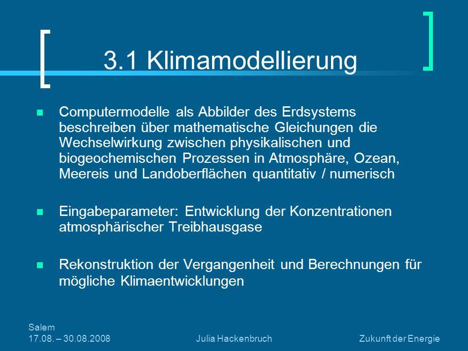 3.1 Klimamodellierung
