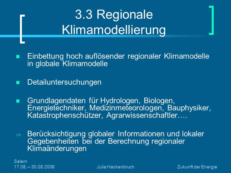 3.3 Regionale Klimamodellierung