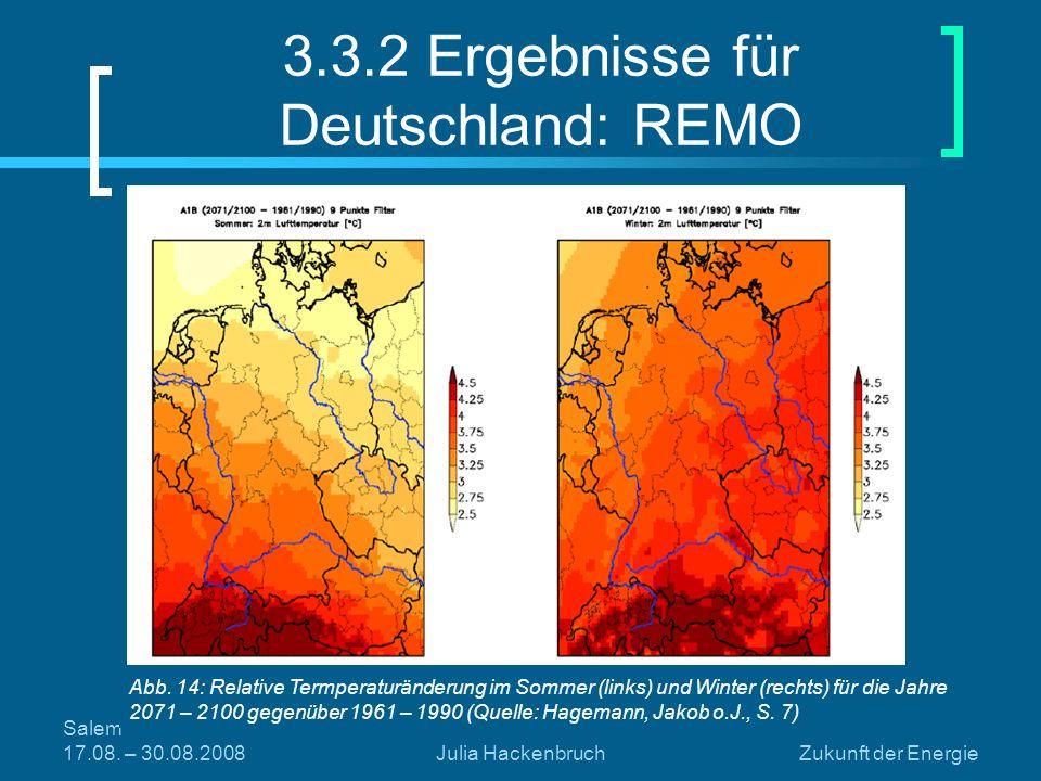 3.3.2 Ergebnisse für Deutschland: REMO