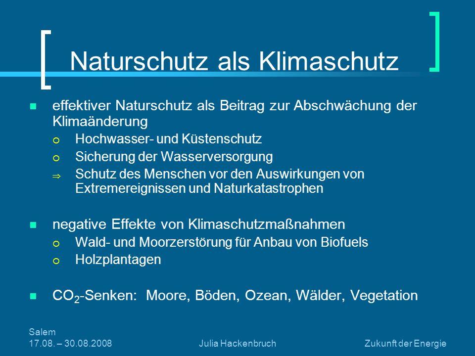 Naturschutz als Klimaschutz
