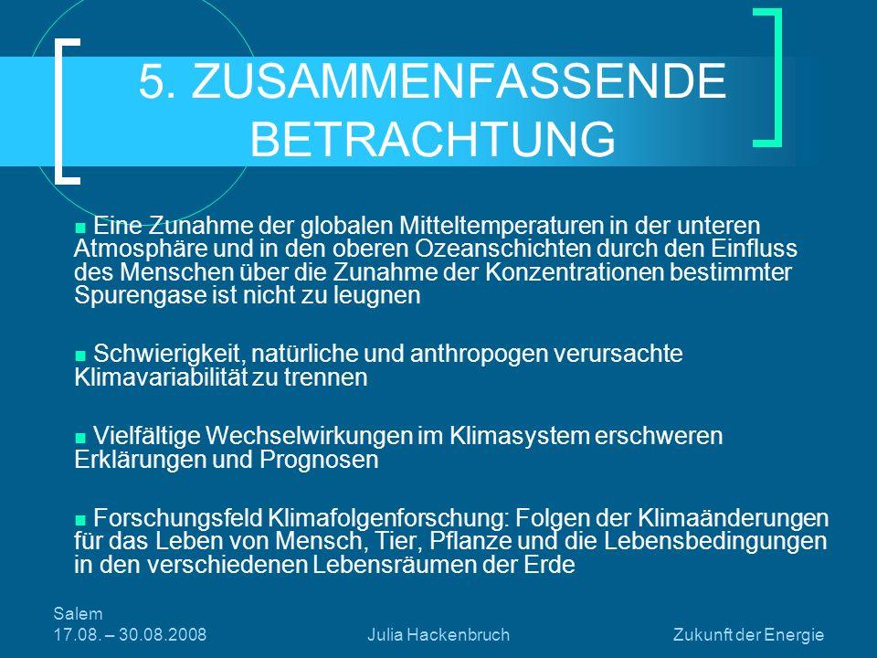 5. ZUSAMMENFASSENDE BETRACHTUNG