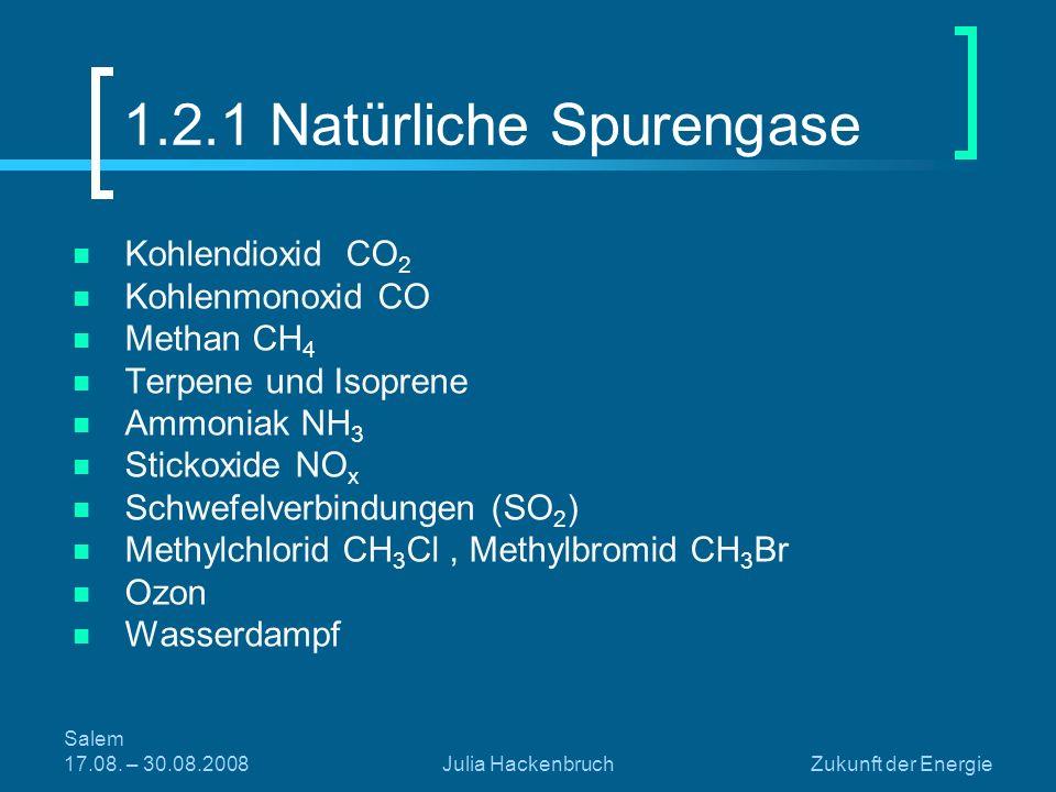 1.2.1 Natürliche Spurengase