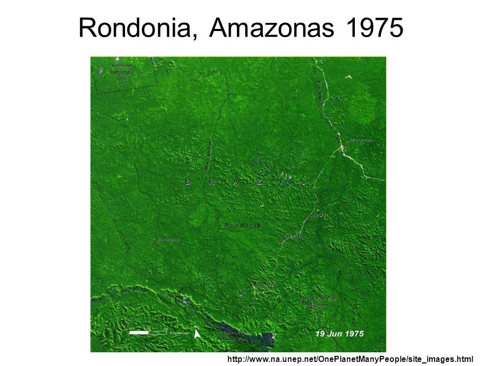 Rondonia, Amazonas 1975 http://www.na.unep.net/OnePlanetManyPeople/site_images.html