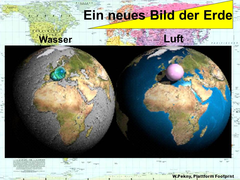 Ein neues Bild der Erde Wasser Luft W.Pekny, Plattform Footprnt