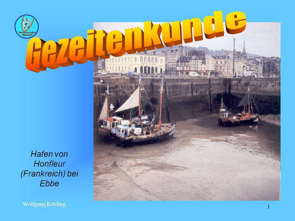 Hafen von Honfleur (Frankreich) bei Ebbe
