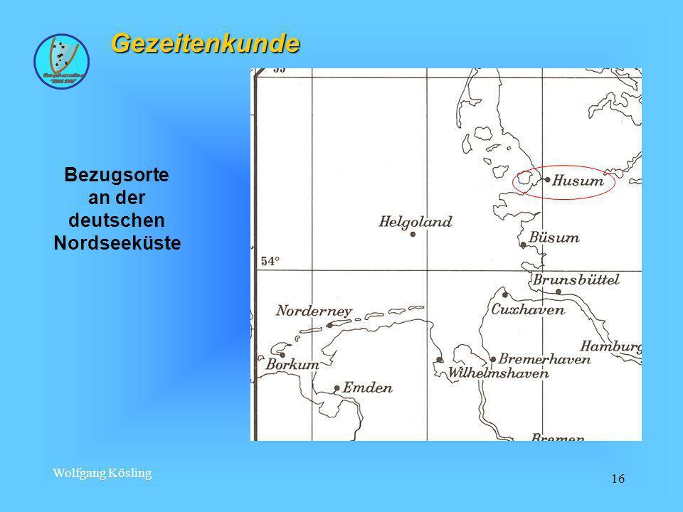 Bezugsorte an der deutschen Nordseeküste